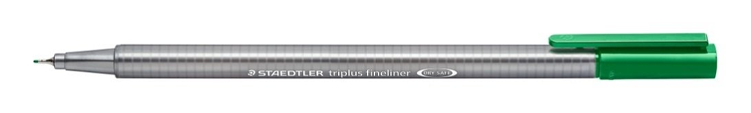 Staedtler Triplus Fineliner 334-5 Tips - Green (Pack of 10) by STAEDTLER
