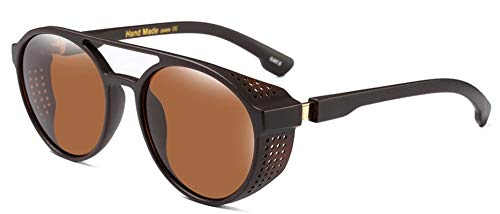 bc003f8552 Image Unavailable. Image not available for. Colour  Zapper SteamPunk  Sunglasses Men Round Side Mesh Style Vintage Punk Eyewear ...