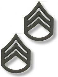 US Army Staff Sergeant Black Collar Device Rank Insignia (Us Navy Rank Insignia)