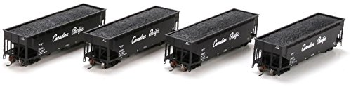Athearn HO Scale 40' 3-Bay Offset Hopper/Load Canadian Pacific/CP Rail 4-Pack #2