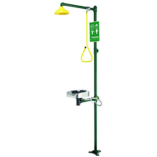 - Drench Shower with Face/Eyewash, Green
