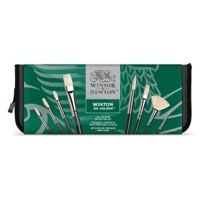 Winton Oil Colour Brushes and Wallet