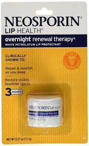 Neosporin Lip Health Overnight Renewal Therapy, 5 Count
