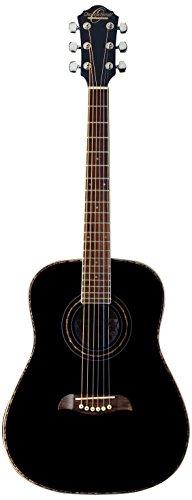 Oscar Schmidt 6 String OG1B 3/4 Size Dreadnought Acoustic Guitar. Black (OG1B-A)