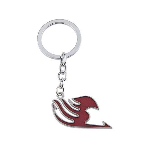 NATFUR Anime Fairy Tail Guild Logo Pendant Keyring Keychain Purse Bag Charm Red Elegant Pretty for Women Cute for Men Holder for Girls Elegant Beautiful Great