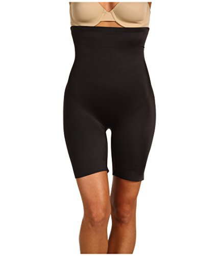 Miraclesuit Shapewear Women's Extra Firm Real Smooth Hi-Waist Thigh Slimmer Black XX-Large ()