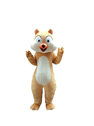 Sinoocean Chipmunk Squirrel Mascot Costume Cosplay Fancy Dress Outfit Suit Brown -