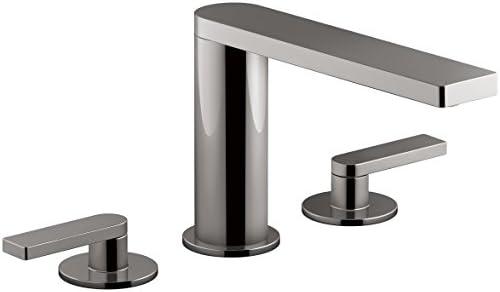 KOHLER K-73081-4-TT, Titanium Composed Deck-Mount Bath Faucet with Lever Handles