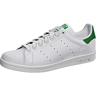 adidas Originals Men's Stan Smith Shoes Sneaker, White/White/Green, 6