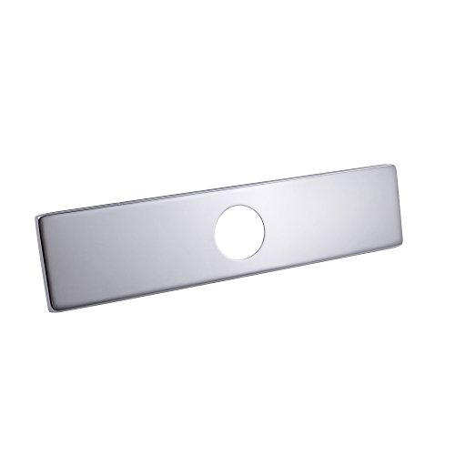 KES 10-Inch Sink Faucet Hole Cover Deck Plate Square Escutcheon for Bathroom or Kitchen Single Hole Mixer Tap, Polished Chrome, PEP2S26 (Faucet Base Plate)