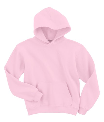 Pink Hoodie Sweatshirt - Hooded Pullover Sweat Shirt Heavy Blend 50/50 - Light Pink 18500B S