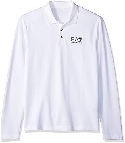 - EA7 Emporio Armani Active Men's Train Core Piquet Long Sleeve Polo, White XL