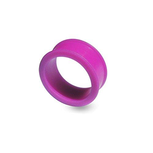 Bijou de Corps Plug d'oreille en silicone en exclusivité Couleur changeante en Fuchsia