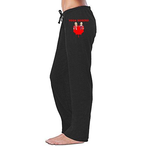 MEGGE Women's Yoga Hosers (2016)2 Drawstring Jogger Pant Black XL