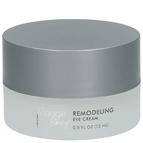 Visage Envy Remodeling Eye Cream for Mature Skin - AminoPeptide Complex Niacinamide, Omega 3,6,9 - Sculpts Under-Eye Skin and Supports Cell Renewal, Infused with Caffeine to Reduce Puffiness 0.5 Ounce (Best Eye Cream For Mature Eyes)