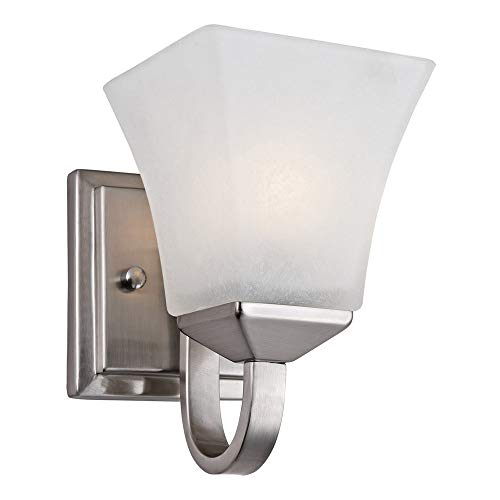 Design House 514745 Torino 1 Light Wall Light, Satin Nickel