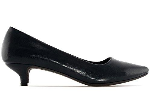 Andres Machado Damen Pumps - Schwarz Schuhe in Übergrößen