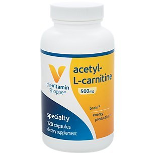 AcetylLCarnitine 500mg – Supports Healthy Brain Memory Function, Promotes Energy Production – Carnipure™ Offers Purest Form of LCarnitine (120 Capsules) by The Vitamin Shoppe