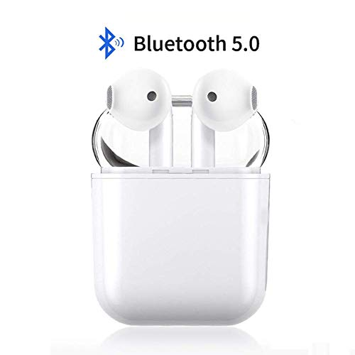 Bluetooth Earbuds, White Wireless Earbuds in-Ear Headphones Hands Free Noise Cancelling Headset Compatible with Android/iPhone XR X 8 8plus 7 7Plus 6 6plus Samsung Galaxy S9 S8 Huawei