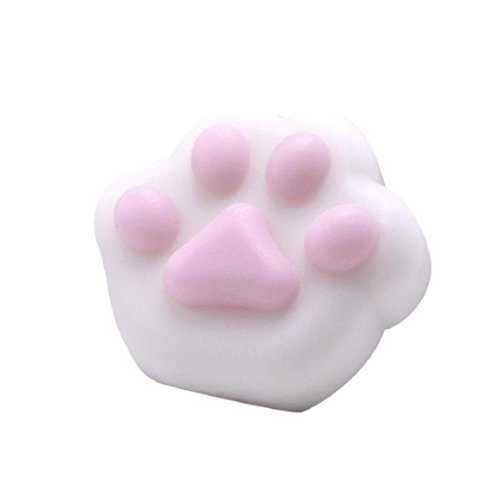 Coerni Cute Kitty Paw Slow Rising Stress Relief Squeeze Toy (White) -