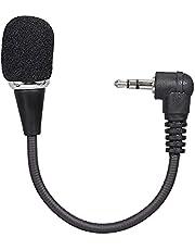 skrskr Mini micrófono Flexible Micrófono de 3,5 mm Micrófono de Condensador omnidireccional Sonido excelente para grabación de Audio y Video Negro