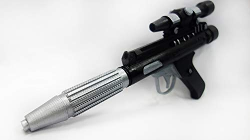 Designed By DH-17 Star Wars Blaster Full Scale, Free Star Wars Banner, Plastic Light and Durable. Safe, Does not Shoot