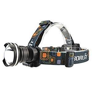 Boruit XM-L T6 LED Kopflampe USB Wiederaufladbar Superhell Stirnlampe 1800LM mit 3 Lichtmodi, 3*AA batteries, Wasserdicht fü r Camping, Mountainbiking, Fischerei, Wanderungen, Jagd und mehr. (Grau) LI-11613186
