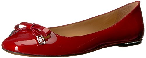 Marc Jacobs Women's Sophie Round Toe Ballerina Ballet Flat, Red, 36 M EU (6 (Marc Jacobs Red Leather)