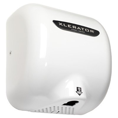 Xlerator Automatic Surface Mounted Hand Dryer Voltage: 110 / 120V, 12 Amp, Nozzle: 1.1, Cover Color: White Thermoset (BMC) by Excel Dryer