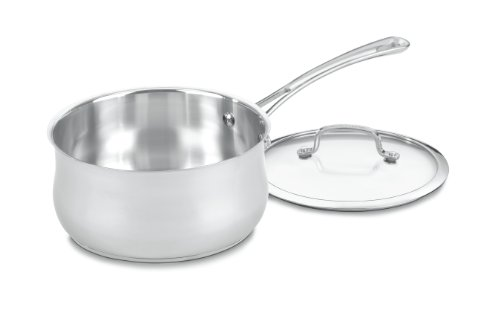 Cuisinart 4193-20 Contour Stainless 3-Quart Saucepan with Glass Cover (Cuisinart 3 Quart Saute Pan compare prices)
