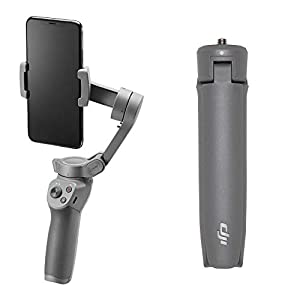 DJI Osmo Mobile 3 Combo – Smartphone Stabilizer 3 Axis Compatible with iPhone and Smartphone Android, Lightweight and Portable Design, Stable Recording, Smart Control + Tripod 31B67CCt0fL