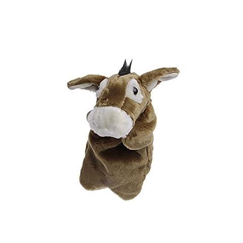 Magicub Kids Animal Hand Finger Puppet Plush Donkey Doll Baby Development Teaching Toy Brown - Horse Puppet Kit