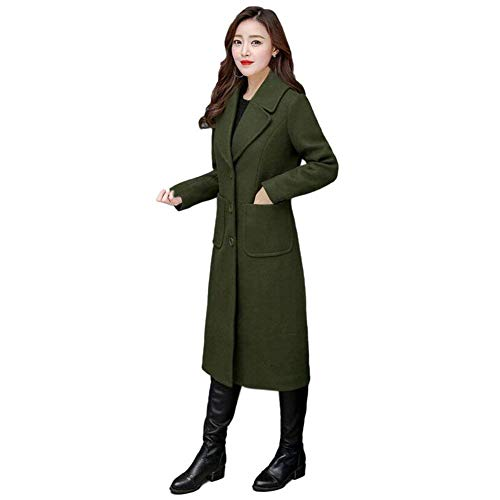 Invernali Single Grün Manica Trench Lunga Ta Donna Fashion Breasted Hx Bavero Windbreaker gPtwftBq