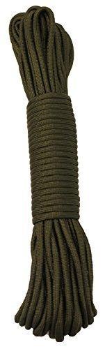 30 m / 100 FT - 4 mm Paracord Seil mit 7 Strängen verschiedene Farben Schnur Fallschirmschnur Schnüre Allzweck Reepschnur Tau Bundeswehr, Survival, Bootsport, Sport, Camping, Segeln, Angeln, Fischen, Wandern reißfest Parachute Cord 550lbs **NICHT ZUM KLETTERN GEEIGNET** (Grün, 30m / 100FT)