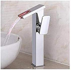 CHENBIN-BB クロームブラスFaucetwaterfall洗面シンク蛇口シングルホールシングルハンドルのミキサーのタップ