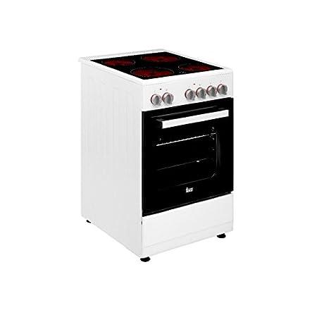 Cocina vitrocerámica de libre instalación TEKA FS 502 4VE WH ...