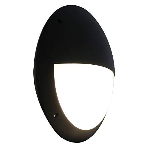 (Zip-LED Waterproof LED Wall Sconce Bulkhead in Black Vandal Resistant Polycarbonate Plastic, 18W 4000K Natural White 1440 Lumen, TRIAC Dimmable, IP66, 5 Year Warranty)