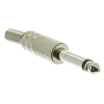 1/4 Inch macho Mono Conector, tipo soldador, Metal (50 unidades) por netcna: Amazon.es: Electrónica
