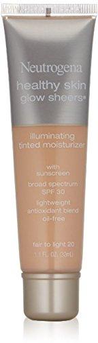 Tint Moisturizer (Neutrogena Healthy Skin Glow Sheers Broad Spectrum Spf 30, Fair To Light 20, 1.1 Oz, (Pack of 2))
