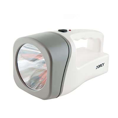 Dorcy 23-Lumen Failsafe Rechargeable LED Flashlight Lantern with Built-In AC Charging Adaptor, White (41-1033)