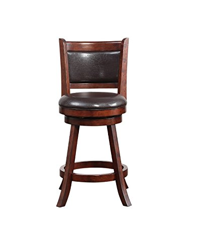 Boraam 66724 Rhea Counter Height Swivel Stool, 24-Inch, Hazelnut - Augusta Stool