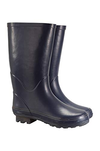 Mountain Warehouse Stream Womens Wellies - Easy to Clean Wellington Boots, Waterproof Summer Boots, Soft Fabric Lining & EVA Footbed Rain Boots -for Walking & Travelling Navy