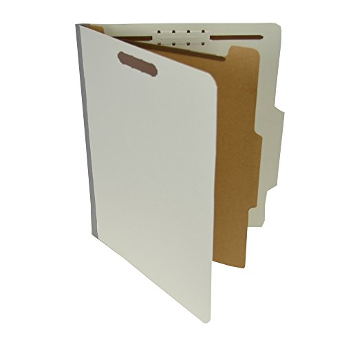 (Pressboard Classification Partition Folder, 1 Dividers, 1-1/2-Inch Expansion, 2/5 Cut Tab, Gray, Letter Size, Box of 20)