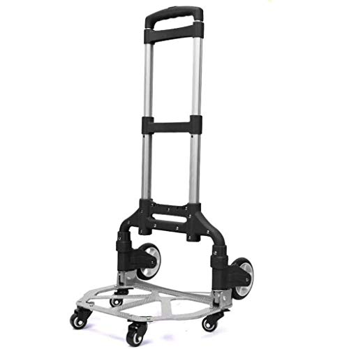 Zehaer Portable Trolley, Small Cart Folding Portable Trolley Home Shopping Cargo Handling Luggage Car-9-9 (Color : D) (Color : A) by Zehaer (Image #7)