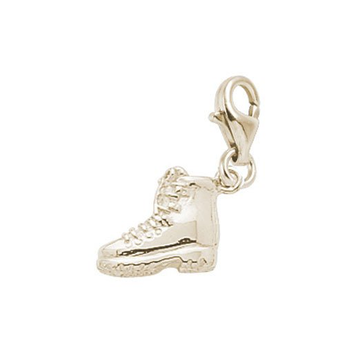Rembrandt Charms Hiking Boot Charm with Lobster Clasp, 14k Yellow Gold