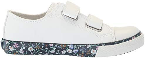 Polo Ralph Lauren Toddler Girl/'s Slone-EZ White//Floral Sneakers Shoes