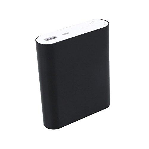 Cewaal DIY 5V 2.1A 4x18650 USB portátil Externo Caja de batería de respaldo del banco de energía Caja de Shell para teléfono inteligente Black