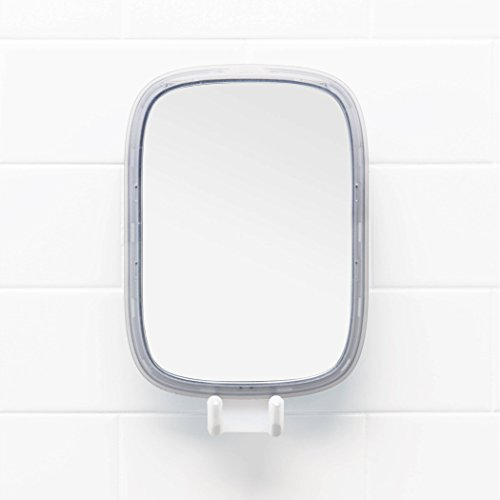 OXO Suction Fogless Mirror with Razor Holder and Tool-Free Adhesive Mount - White by OXO