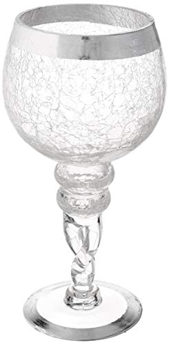 - Fifth Avenue Crystal 215179-GB Buckingham Set of 2 Candle Holders-Silver,