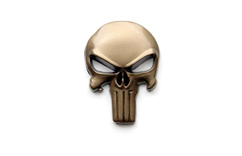 Tactical Freedom - Magwell Metal Decal/Sticker - Punisher Skull (FDE) (Best Metal Ar15 Mags)
